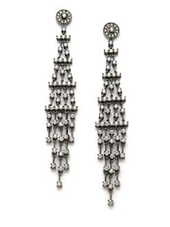 CZ by Kenneth Jay Lane - Tiered Fringe Chandelier Earrings