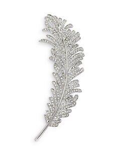 CZ by Kenneth Jay Lane - Feather Crystal Brooch