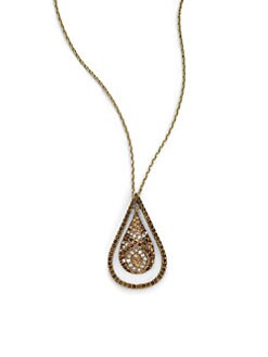 ABS - Teardrop Pendant Necklace