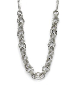 ABS - Rhinestone Chain-Link Necklace