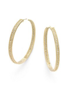 Belargo - Pave Hoop Earrings/Gold