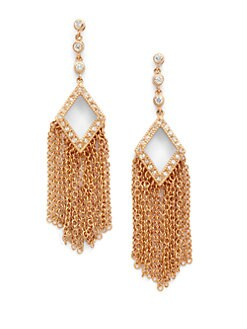 Belargo - Diamond-Shaped Fringe Earrings