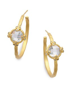 Belargo - Four Point Station Hoop Earrings/Goldtone