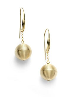 Adami & Martucci - Ball and Chain Drop Earrings/Yellow Goldplated