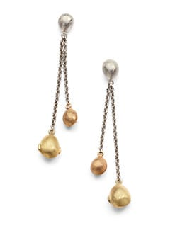 Adami & Martucci - Bead and Chain Dangle Earrings/Multi