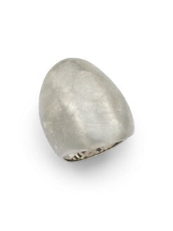Adami & Martucci - Brushed Sterling Silver Saddle Ring
