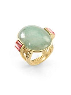 Judith Leiber - Green Aventurine Cocktail Ring