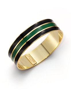A.V. MAX - Ribbed Enamel Bangle Bracelet