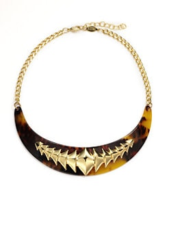 A.V. MAX - Lucite Tortoise Collar Necklace