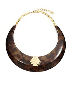 A.V. MAX - Patent Leather Tortoise Collar Necklace