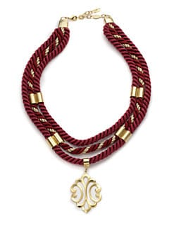 A.V. MAX - Scroll Pendant Baroque Necklace