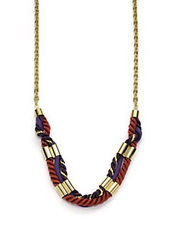 A.V. MAX - Long Cord & Chain Necklace/Burgundy