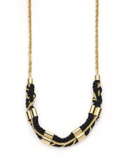 A.V. MAX - Long Cord & Chain Necklace/Black