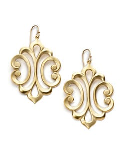 A.V. MAX - Scroll Baroque Drop Earrings