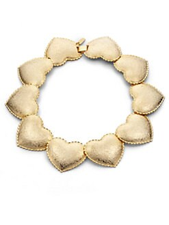 Tuleste Market - Interlocking Heart Necklace/Gold