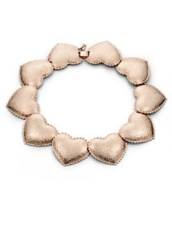 Tuleste Market - Interlocking Heart Necklace/Rose Gold