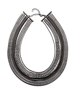 Tuleste Market - Multi-Chain Necklace/Gunmetal