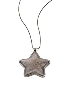 Tuleste Market - Star Pendant Necklace/Gunmetal