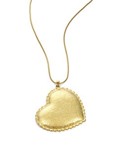 Tuleste Market - Heart Pendant Necklace/Gold
