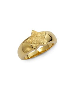 Tuleste Market - Textured Single Star Ring/Gold