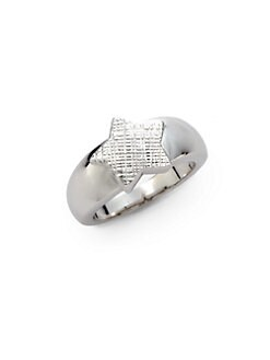 Tuleste Market - Textured Single Star Ring/Silver