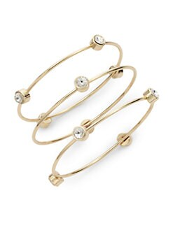 Noir - Station Bangle Set/Clear