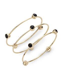 Noir - Station Bangle Set/Black