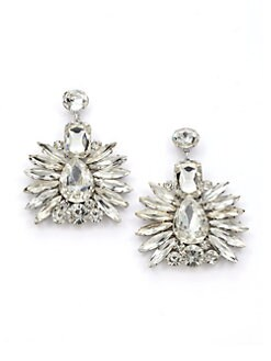 Noir - Jaipur Cluster Earrings/Clear Silver