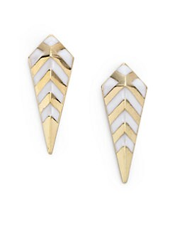 Noir for L.A.M.B. - Enamel Spike Earrings