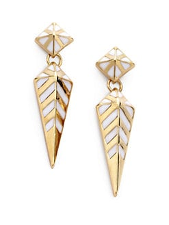 Noir for L.A.M.B. - Enamel Spike Drop Earrings