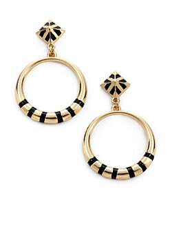 Noir for L.A.M.B. - Enamel Hoop Drop Earrings