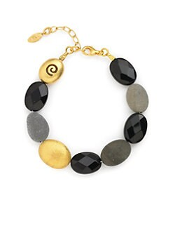 Rena Luxx - Multi-Bead Stone Bracelet