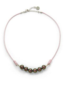 Majorica - 10MM Tahitian Pearl Cord Necklace