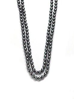 Majorica - 8MM Tahitian Round Pearl Strand Necklace