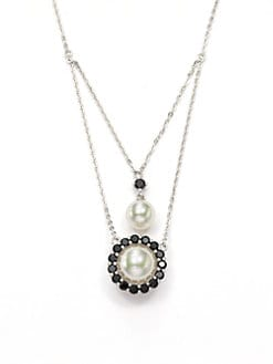 Majorica - Pearl & Crystal Double Necklace