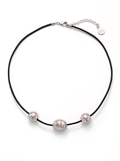 Majorica - 14MM Nuage Round Pearl Cord Necklace