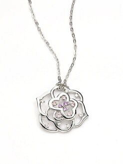 Majorica - Pink Crystal Flower Necklace
