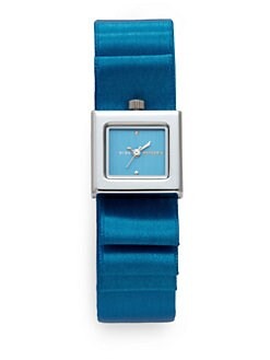 BCBGMAXAZRIA - Satin Ribbon Silver Watch