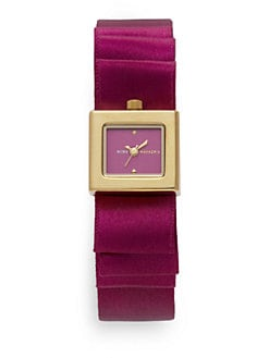BCBGMAXAZRIA - Satin Ribbon Yellow Gold Watch