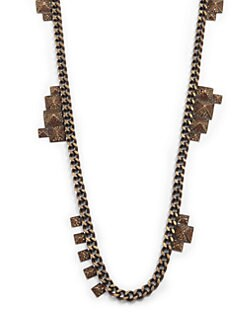 joanna laura constantine - Pave Pyramid Stud Long Necklace