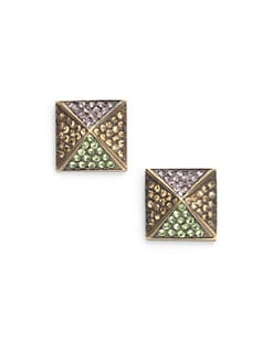 joanna laura constantine - Pave Pyramid Stud Earrings/Bronze