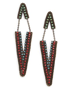 joanna laura constantine - Chainlink Dagger Drop Earrings