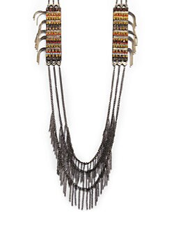 joanna laura constantine - Station Fringe Multi-Chain Necklace