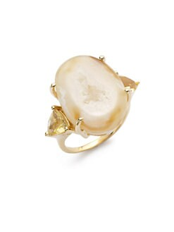 Isharya - Gemini Druzy-Effect Ring/Yellow