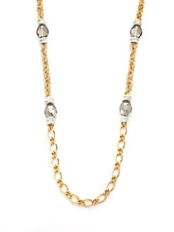 Leslie Danzis - Two-Tone Stone Station Necklace