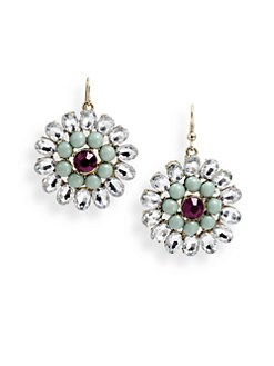 Leslie Danzis - Crystal Flower Drop Earrings