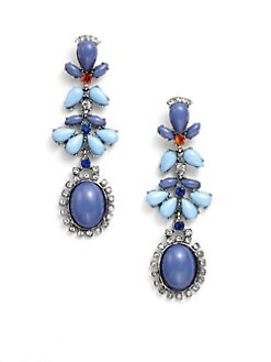 Leslie Danzis - Cabachon Drop Earrings