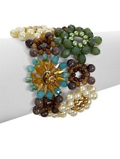 Leslie Danzis - Floral Beaded Cluster Bracelet