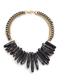 Janna Conner - Agate Fringe Multi-Chain Necklace