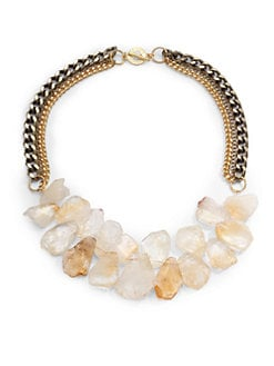 Janna Conner - Citrine Fringe Multi-Chain Necklace